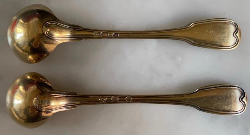 Cuillère, Louche, à Moutarde, Argent ,doré, Vermeil, Empire, XIXè-photo-3