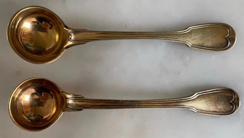 Cuillère, Louche, à Moutarde, Argent ,doré, Vermeil, Empire, XIXè-photo-4