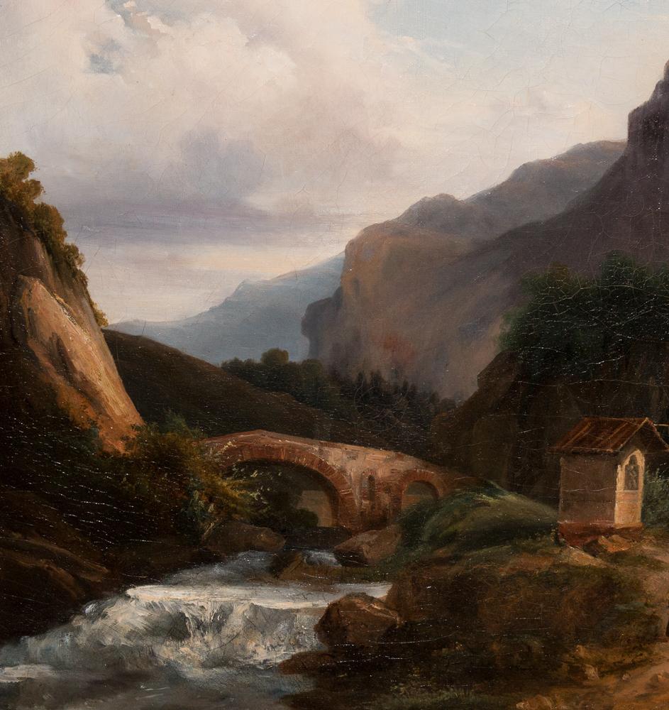 tableau paysage de montagne italie 1820 1830 tableaux paysages. Black Bedroom Furniture Sets. Home Design Ideas