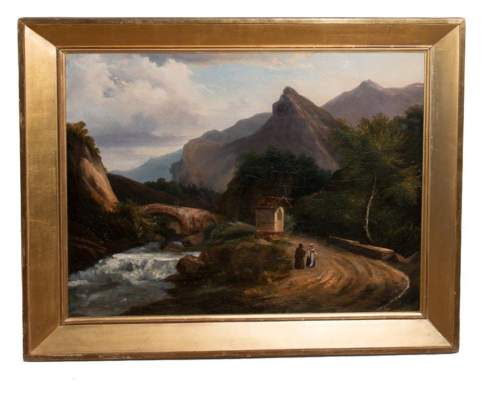 Tableau Paysage De Montagne, Italie 1820-1830