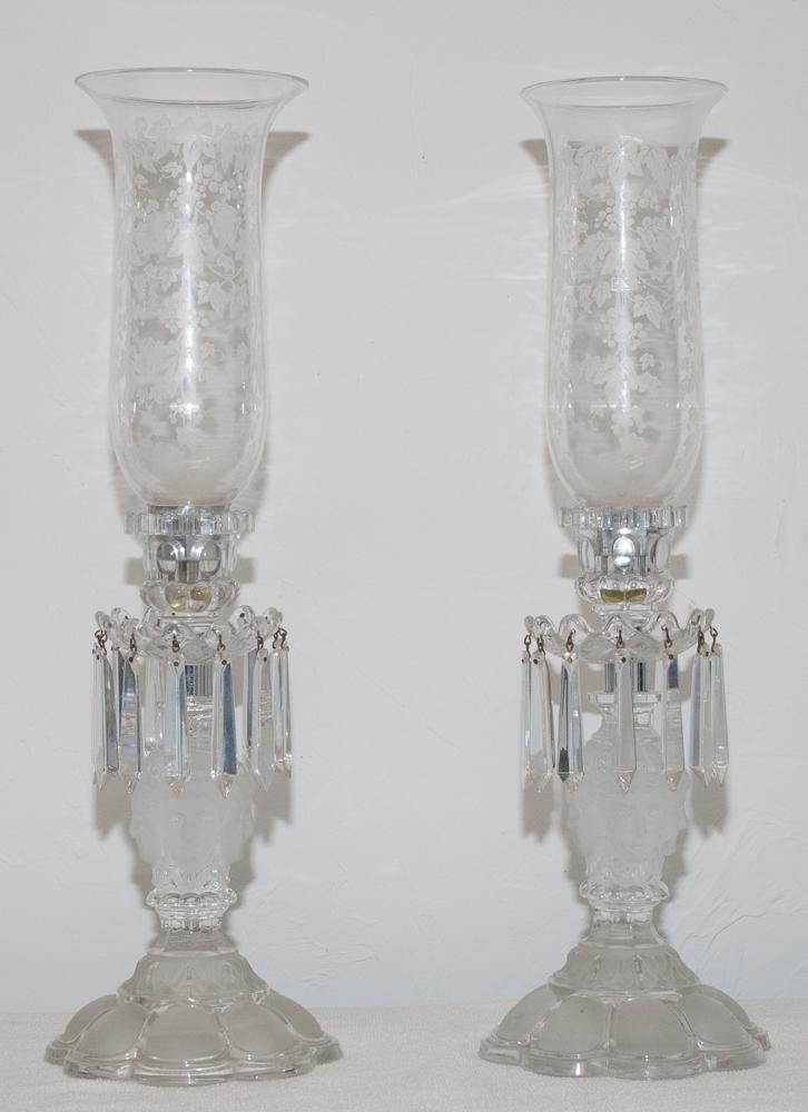 """Paire De Flambeaux En Cristal De Saint Louis Modèle """"renaissance"""""""