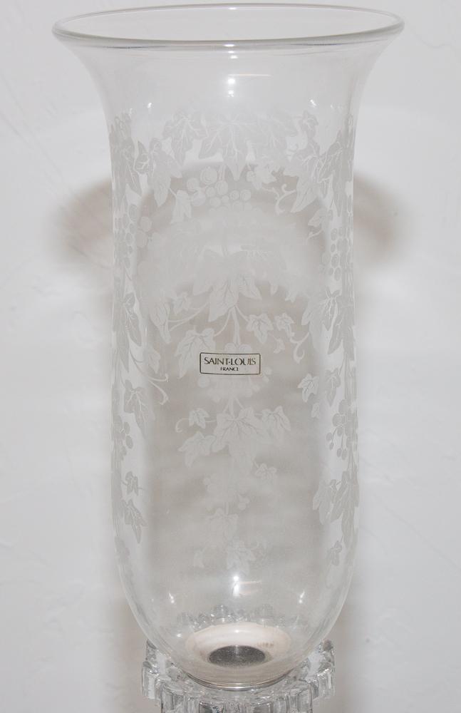 """Paire De Flambeaux En Cristal De Saint Louis Modèle """"renaissance""""-photo-3"""