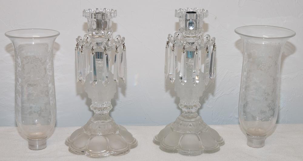"""Paire De Flambeaux En Cristal De Saint Louis Modèle """"renaissance""""-photo-1"""