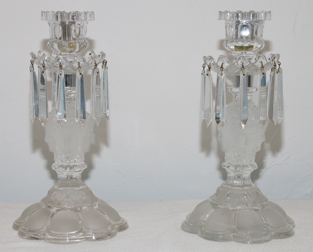 """Paire De Flambeaux En Cristal De Saint Louis Modèle """"renaissance""""-photo-8"""