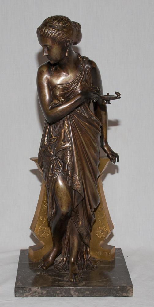 """Bronze """"femme à l'Antique"""" Signé Peiffer 1832-1886"""