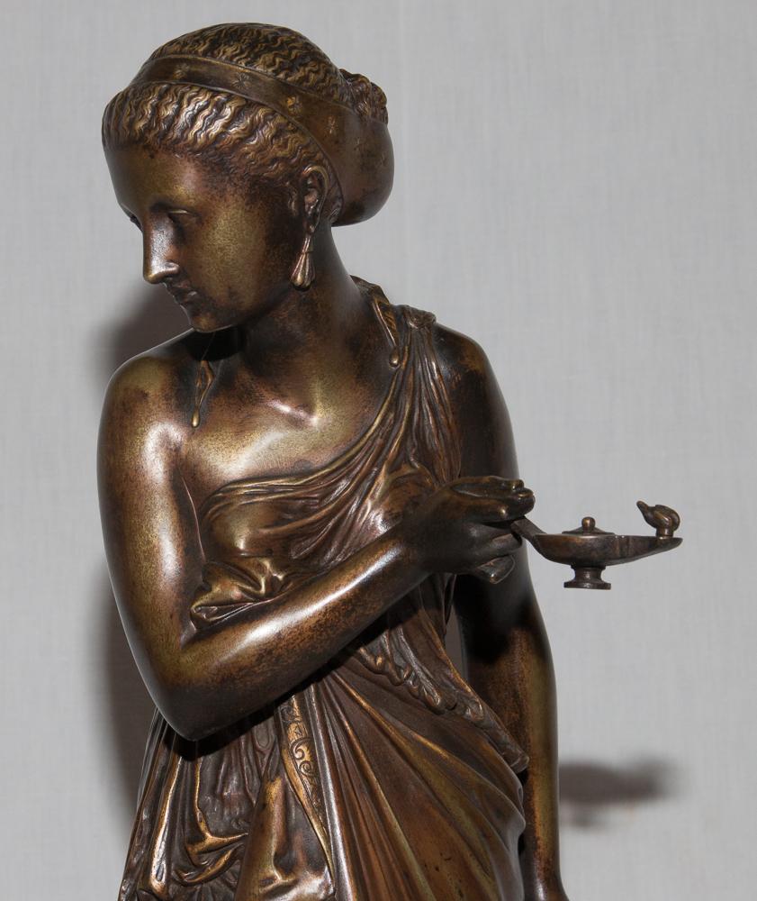 """Bronze """"femme à l'Antique"""" Signé Peiffer 1832-1886-photo-2"""