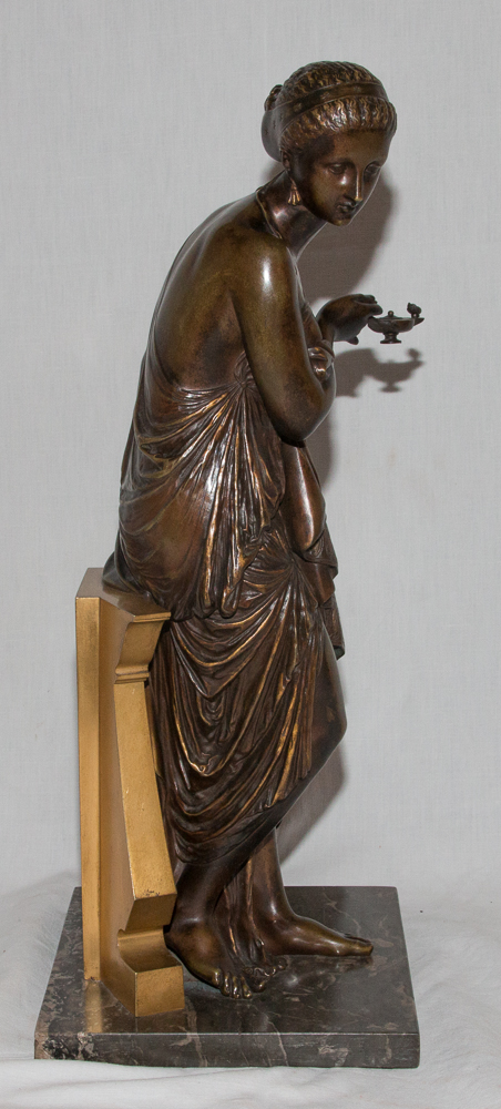 """Bronze """"femme à l'Antique"""" Signé Peiffer 1832-1886-photo-1"""