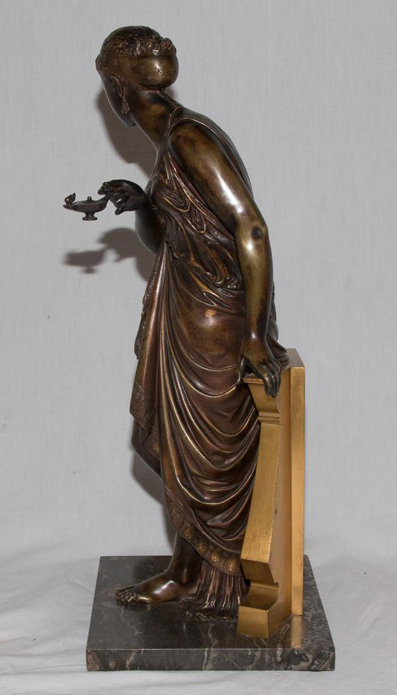 """Bronze """"femme à l'Antique"""" Signé Peiffer 1832-1886-photo-3"""