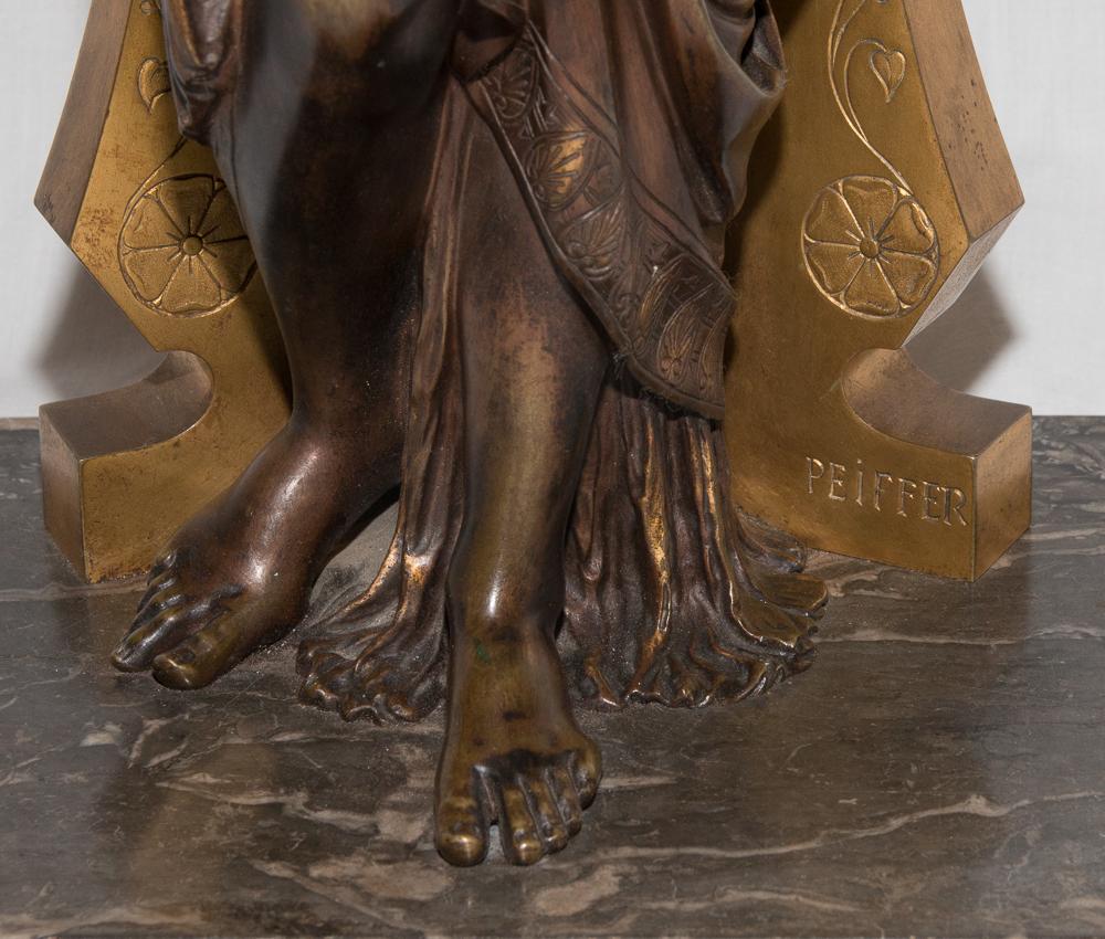"""Bronze """"femme à l'Antique"""" Signé Peiffer 1832-1886-photo-4"""