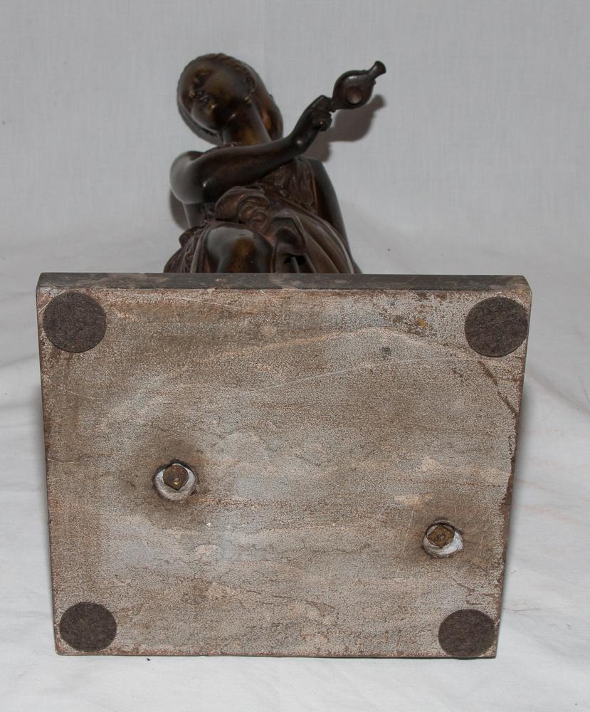 """Bronze """"femme à l'Antique"""" Signé Peiffer 1832-1886-photo-6"""