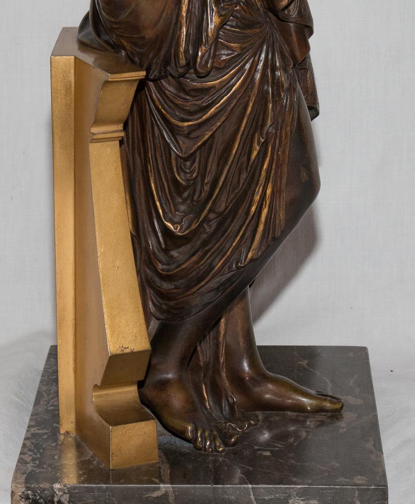 """Bronze """"femme à l'Antique"""" Signé Peiffer 1832-1886-photo-7"""