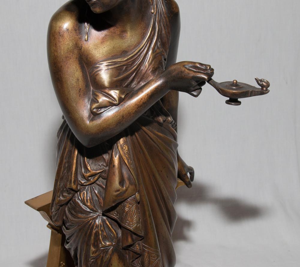 """Bronze """"femme à l'Antique"""" Signé Peiffer 1832-1886-photo-8"""