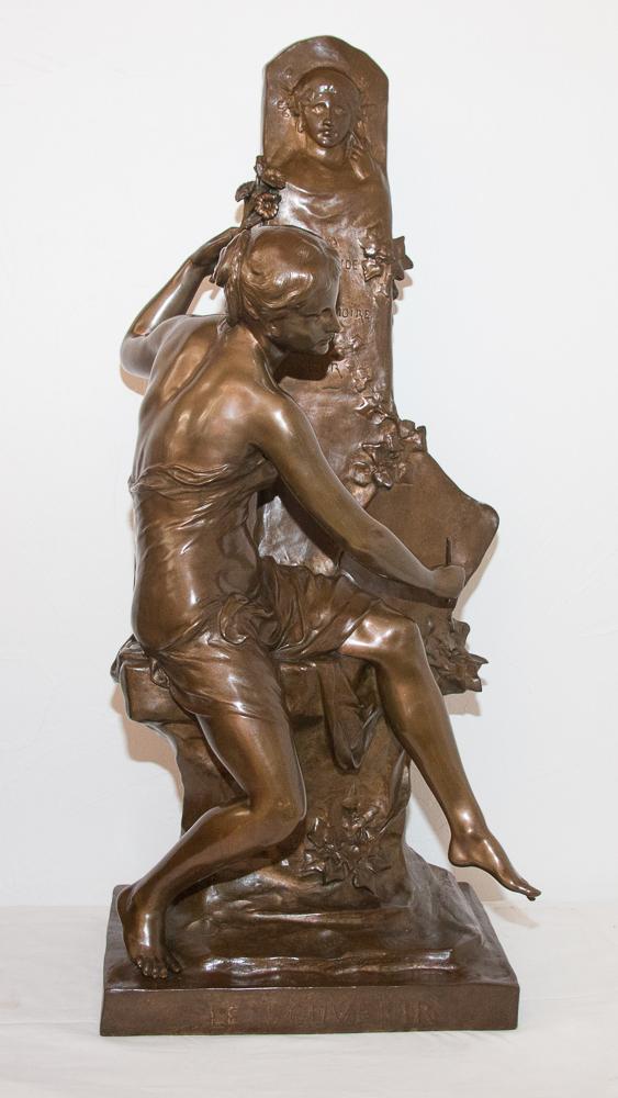 Bronze « Le Souvenir » Signé E Picault Fin XIXe Siècle