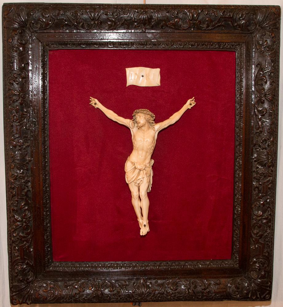 Christ en ivoire époque XVIIIè siècle