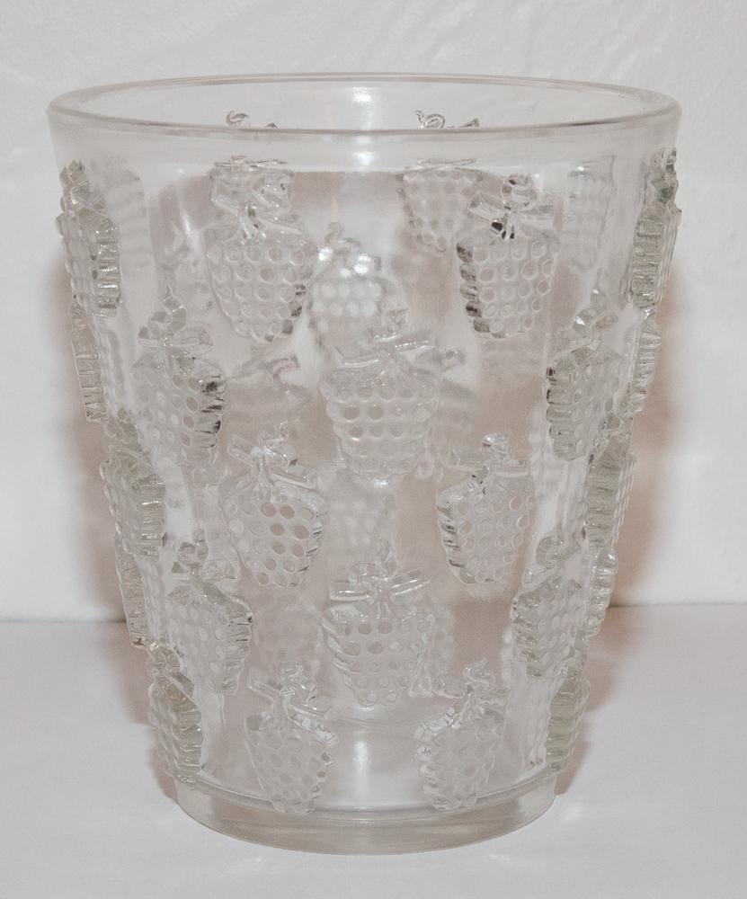 Vase Modèle Lave Raisins Malaga R Lalique 1937
