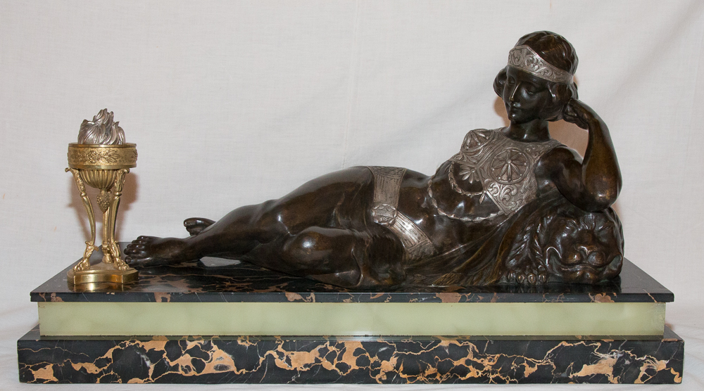Odalisque En Bronze époque Art Déco Claude Mirval