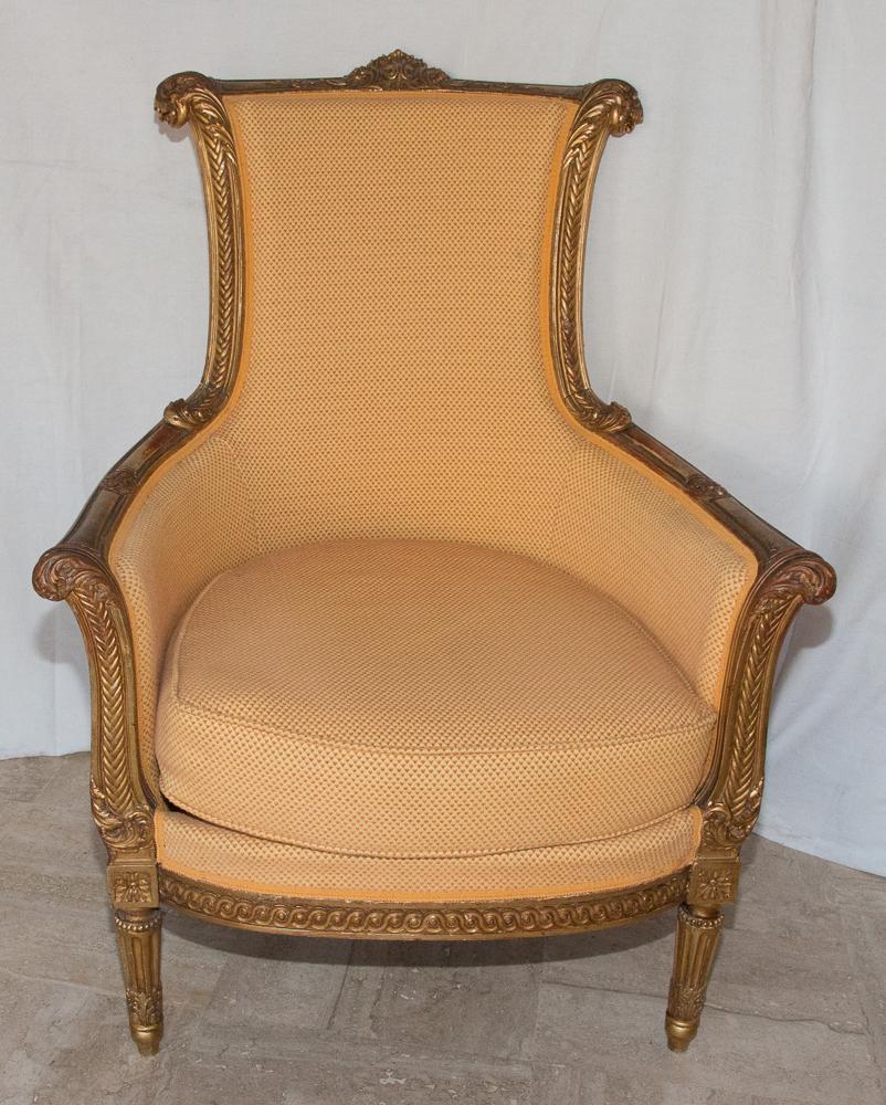 Grande Bergère Style Louis XVI Circa 1860