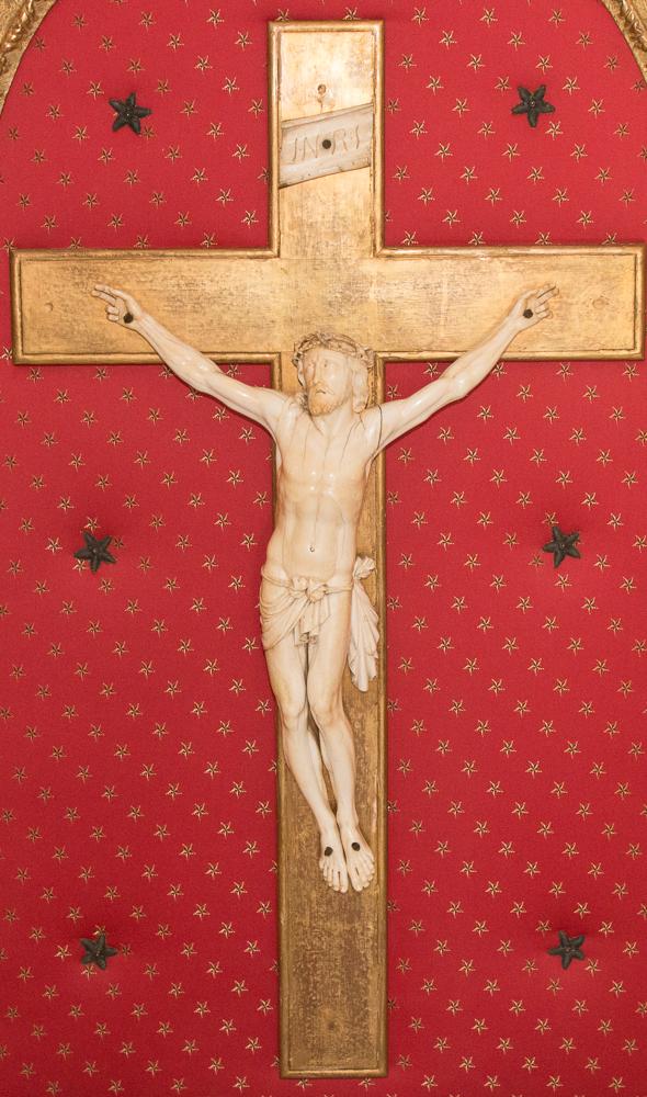 Grand Christ En Ivoire  époque Régence Début XVIIIe Siècle-photo-2