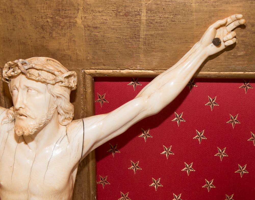 Grand Christ En Ivoire  époque Régence Début XVIIIe Siècle-photo-3