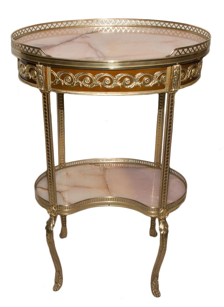 Pedestal Style Transition In Bronze And Onyx Circa 1880