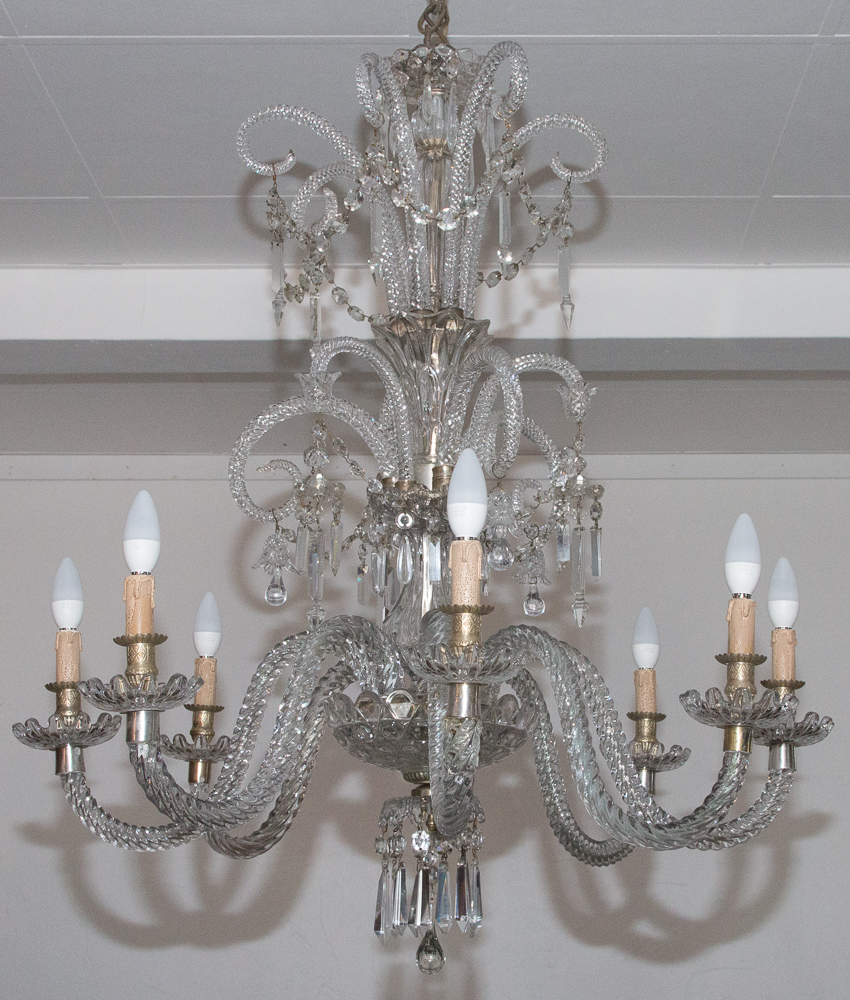 Crystal Chandelier Signed Baccarat Circa 1880/1900