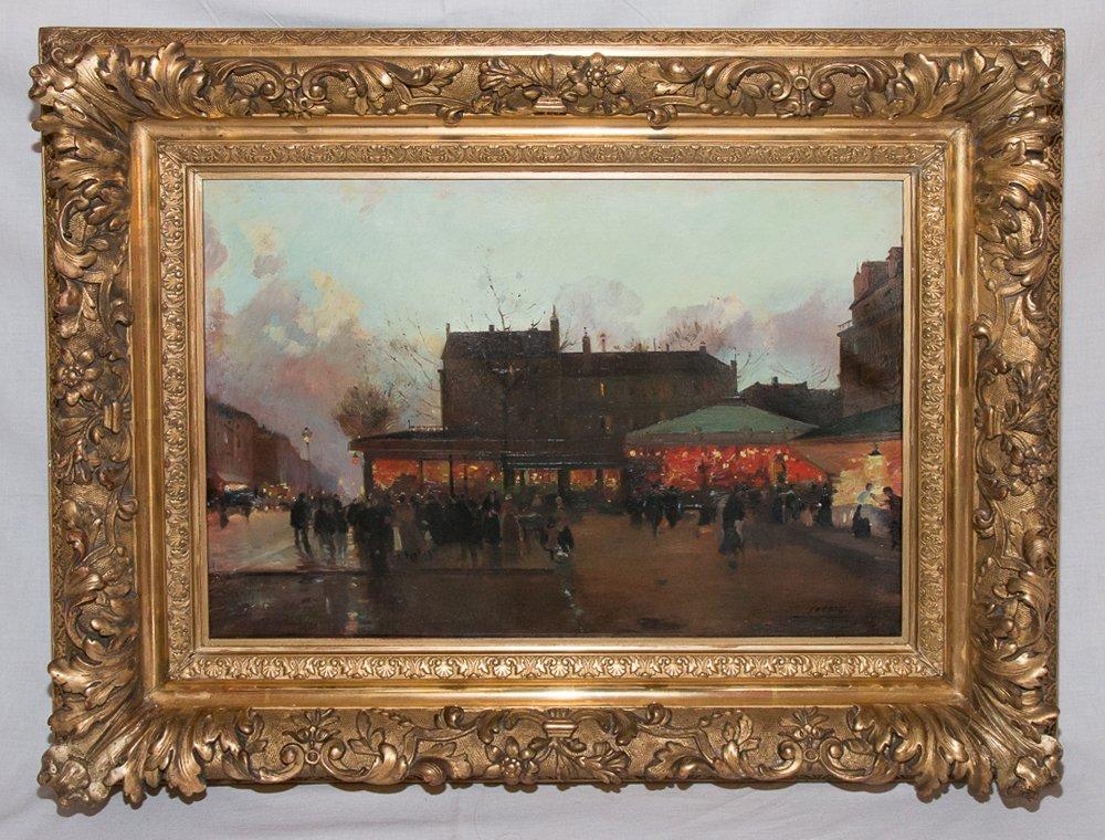 Animated Square Of Paris - Eugène Galien Laloue (1854-1941)