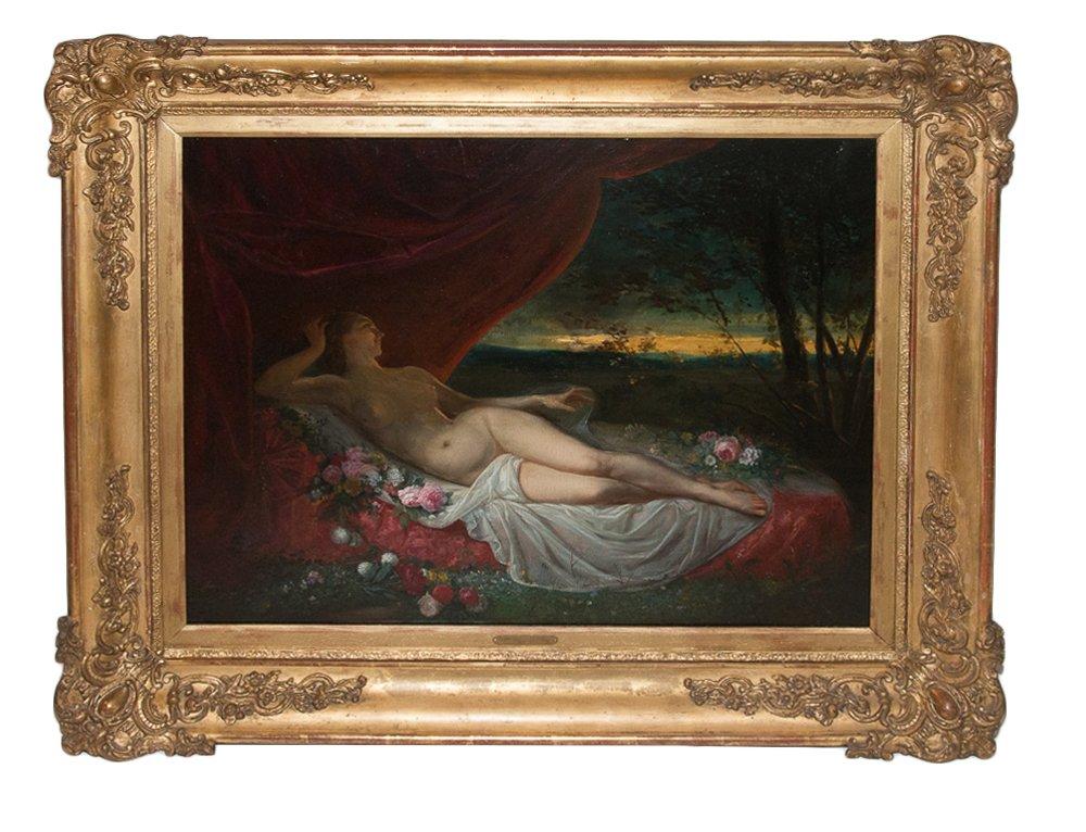 Naked Wife Lying Jean Louis Victor Viger Du Vigneau (1819-1879)