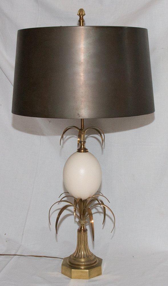 Lampe Maison  Charles Modèle œuf Roseaux Circa 1970
