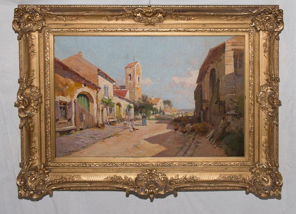 Cour De Ferme Eugène Galien Laloue (1854-1941)