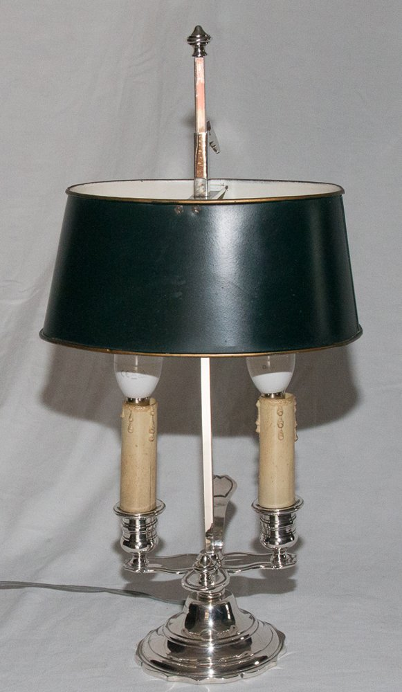 Hot Water Bottle Lamp In Silvered Bronze A Mourier Circa 1930