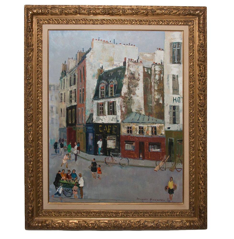 Rue Animée De Paris Jacques Bouyssou
