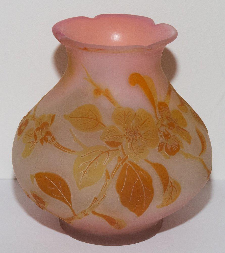 """Vase """"flowers Of Apple Tree Of Japan"""" Emile Gallé"""
