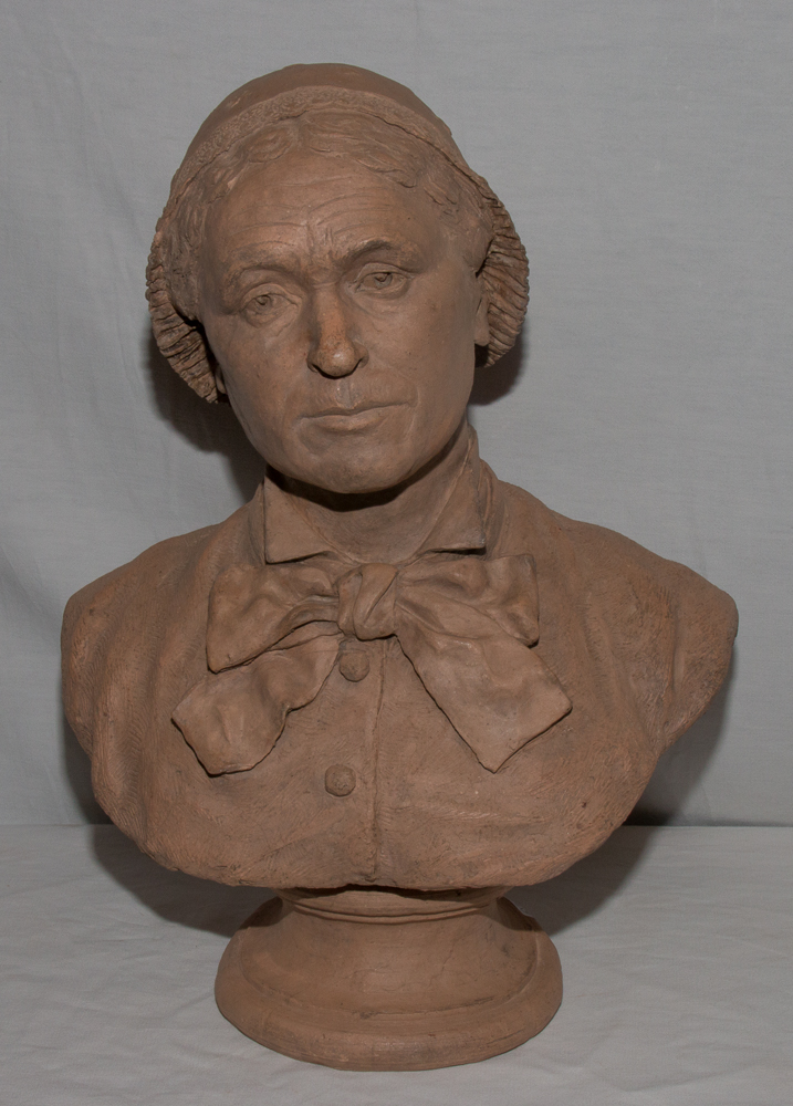 Bust Earth Signed And Dated 1881 R. Chassaigne