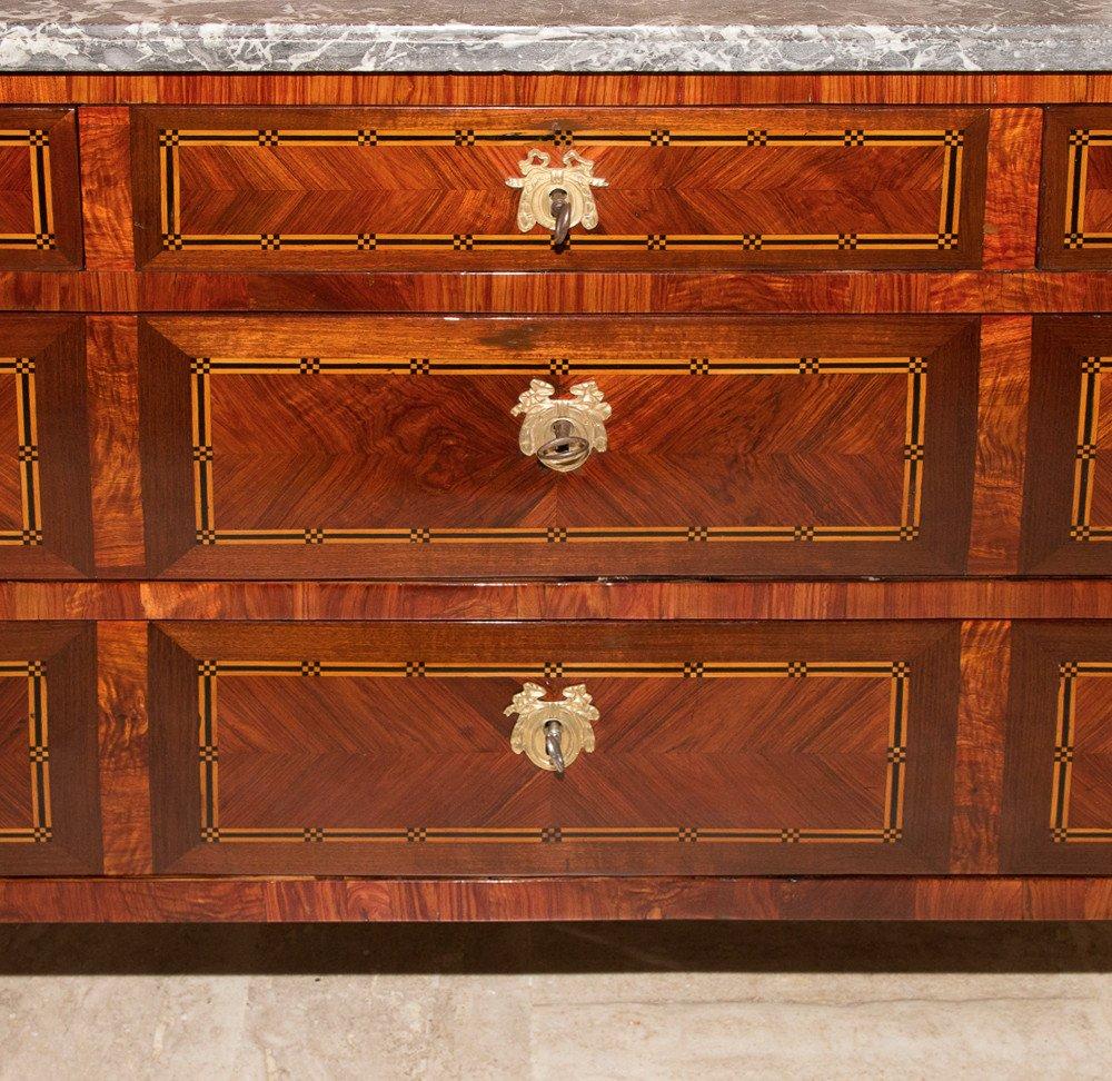 Commode époque Louis XVI estampillée  J.B.VASSOU-photo-8