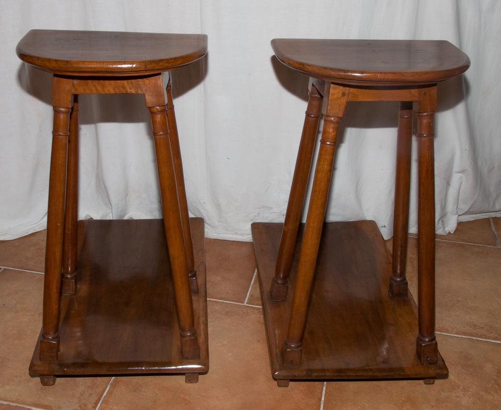 Paire De Tabourets De Chantre Style Renaissance Circa 1820