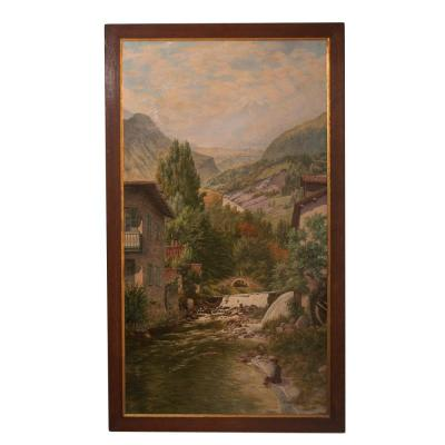 Table Scenery Savoie Signed Abel Boulineau 1839-1934