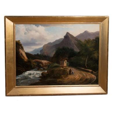 Table Mountain Scenery, Italy 1820-1830