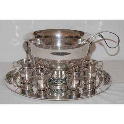 Service Punch In Sterling Silver Codan Mexico 1960