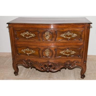 Commode Provencal In Walnut XVIII Dite Sauteuse End