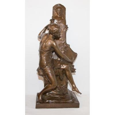 "Bronze ""the Souvenir"" Signed E Picault Late Nineteenth Century"