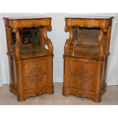 Pair Support Period Furniture Charles X