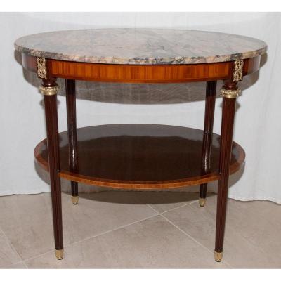 Guéridon Ovale Style Louis XVI Fin XIXe Siècle