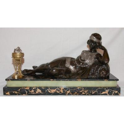 Odalisque In Bronze Art Deco Period Claude Mirval