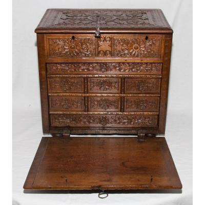 Petit Cabinet De Voyage Espagne Epoque XVIIe Siècle