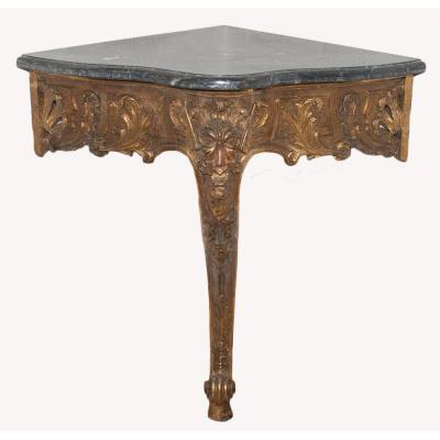 Angle Console Carved And Gilded Louis XV