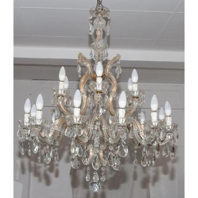 1950s Bohemian Crystal Marie-thèrese Chandelier