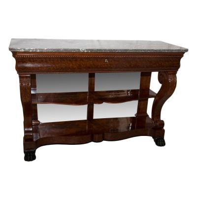 Large Console Mahogany Crosses Restoration Period