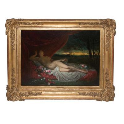 Femme Nue Allongée Jean Louis Victor Viger Du Vigneau (1819-1879)