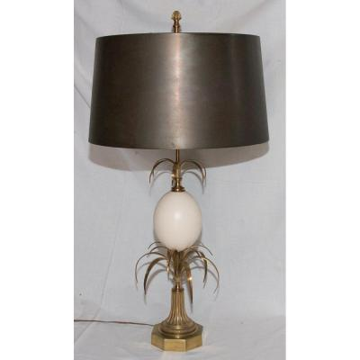 Lamp House Charles Model Egg Reeds Circa 1970
