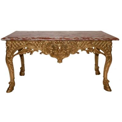 Regency Carved And Gilded Wood Console